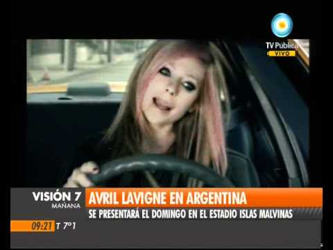 Visión Siete: Avril Lavigne en la Argentina