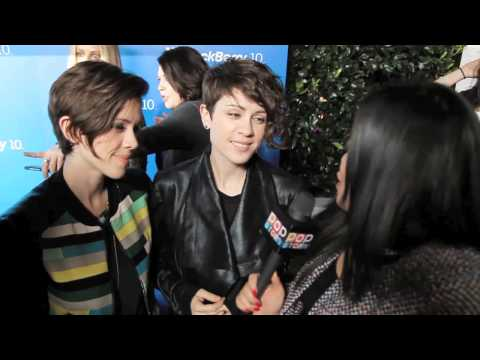 Tegan and Sara Quin interview at the Blackberry Z10 Launch Event
