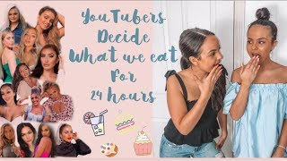 YOUTUBERS DECIDE WHAT WE EAT FOR 24HOURS!! - AYSE AND ZELIHA