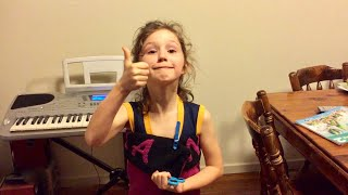 Funniest dedication Natalia has done... and it's to herself for her 8th bday. Barcarolle Yamaha Jxc2