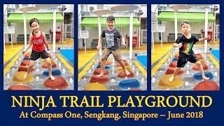 Ninja Trail Playground at Compass One, Sengkang, Singapore