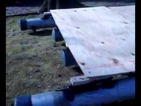 Homemade Pvc pontoon boat