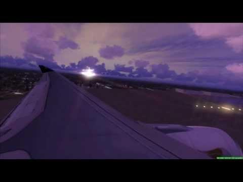OMAN AIR A330 Sunset Landing Don Muang Bangkok