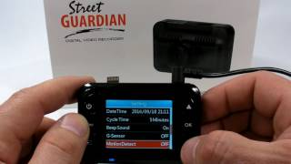 Street Guardian SG9665XS Menu Interface (GUI) overview