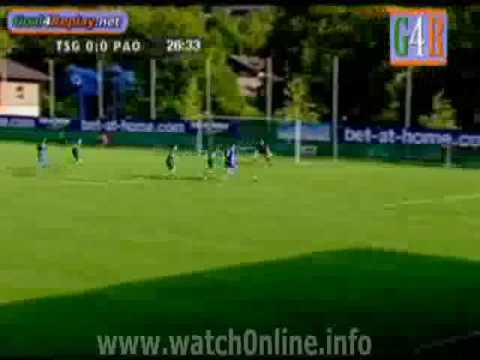 Hoffenheim vs Panathinaikos 1-0 (17.07.2009) Vedad Ibisevic
