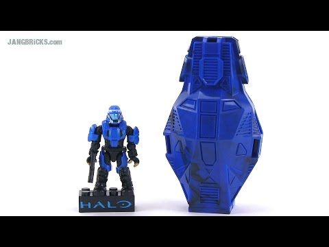 Mega Bloks Halo Metallic Series Blue ODST drop pod review!