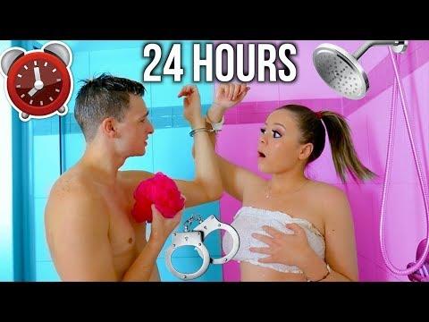 Download 24 HOUR HANDCUFF CHALLENGE WITH MY BOYFRIEND! | Krazyrayray Mp4 baru