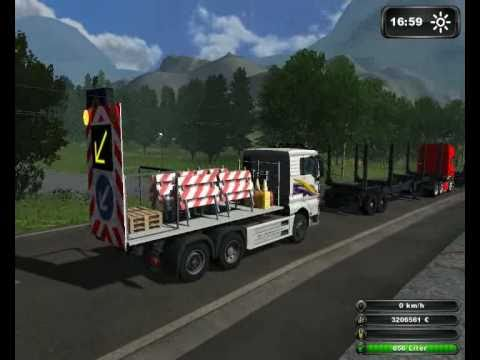 Schwertransport fr Holzarbeiten im Landwirtschafts Simulator 2011 TEIL 1