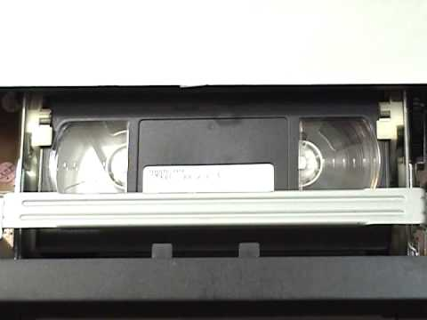 Sony SLV N51 VHS VCR fast-forward/rewind cycle of a T-120 VHS cassette