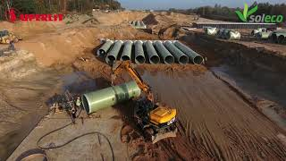 SUPERLIT Supplies GRP Pipes and Tank Systems for A1 Motorway Lot F in Poland