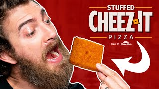Cheez-It Pizza Hut Stuffed Pizza Taste Test