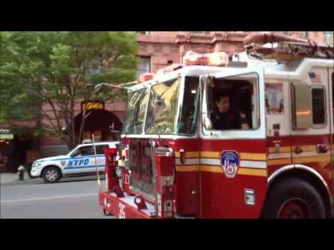 FDNY TOWER LADDER 35, FDNY ENGINE 40, FDNY ENGINE 22, FDNY ENGINE 23 & FDNY ENGINE BATTALIN 10.