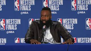 James Harden Postgame Interview | Rockets vs Warriors Game 6