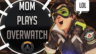 My hilariously inappropriate mom plays Overwatch