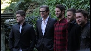 Colin Firth a Roma con i Take That presenta la sua spia gentleman