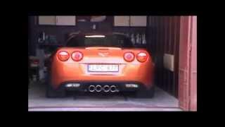 Bassani Exhaust System - Corvette Z06 2007 cold start up, Atomic Orange