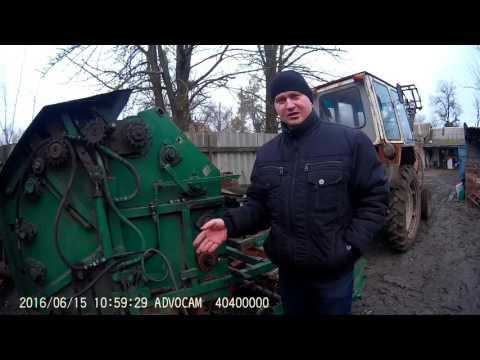 Самодельный пресс для сена для трактора