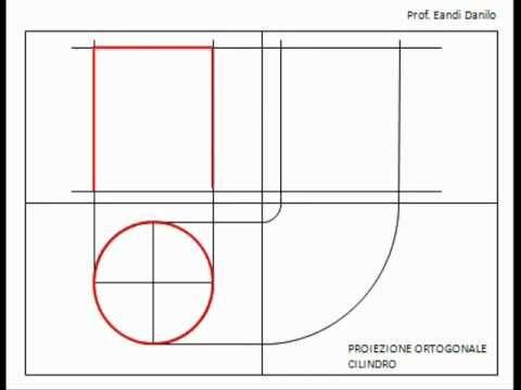 Proiezione ortogonale cilindro youtube for Piani di cabina di base di base