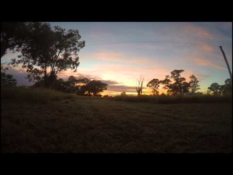 GoPro Hero 4 Sunrise Time Lapse: Chinchilla Australia