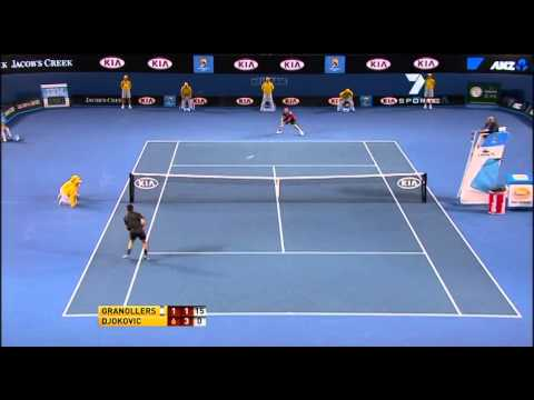 Australian Open 2011 R1 Novak Djokovic vs Marcel Granollers highlights [HD]