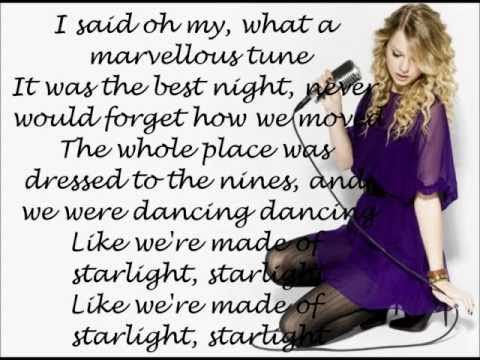 Taylor Swift - Starlight (Lyrics On Screen)