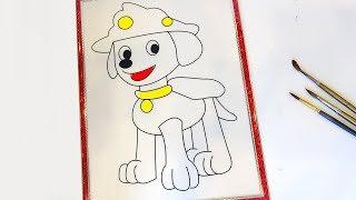 Đồ chơi trẻ em | Dậy Bé Tô Màu Con Chó - Coloring a dog