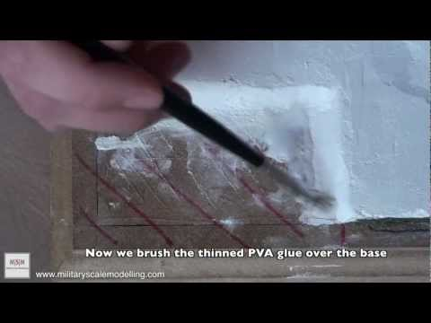 How-To create a sand structure on a base or diorama