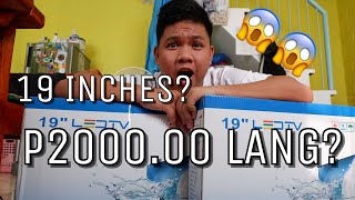 UNBOXING A 19 INCHES FLAT SCREEN TV FROM LAZADA   RAvlogs
