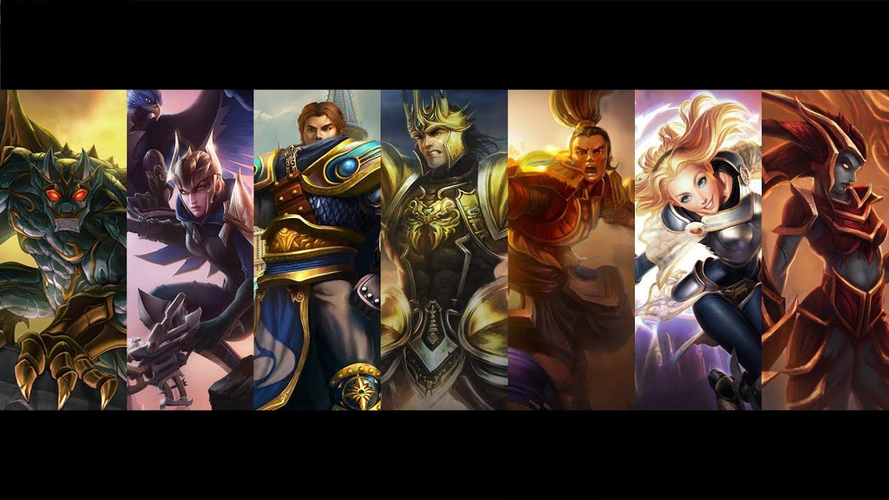 The Demacians - Jarvan, Garen, Xin Zhao, Lux, Quinn, Galio ...