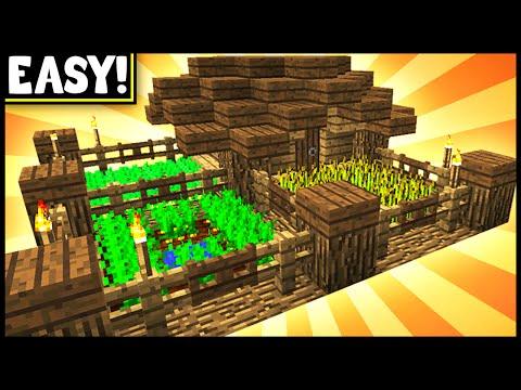 Compact & Efficient Farmhouse! - Minecraft Tutorial