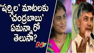 షర్మిళ ఫిర్యాదుపై చంద్రబాబు కౌంటర్   Chandrababu Responds On YS Sharmila's Complaints   NTV POlitics