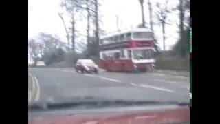 Durham city car drive. Mid 1980