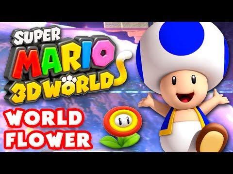 Super Mario 3D World - World Flower 100% (Nintendo Wii U Gameplay Walkthrough)