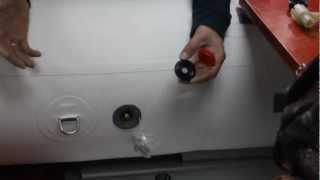 клапана в лодке со сбросом