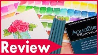 NEW! Spectrum Aqua Watercolor Pencil Review & Demo // AquaBlend Pencils Review