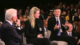 President Clinton speaks with Elizabeth Holmes and Jack Ma (2015 CGI Annual Meeting)