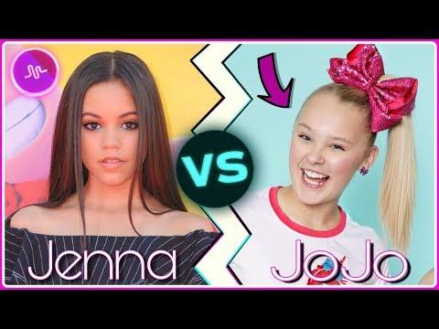 Jenna Ortega VS JoJo Siwa Musical.ly Battle 2018 | Famous Celebrity Girls Best Musically