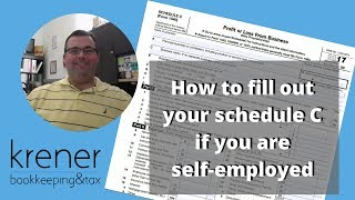 How to fill out schedule C if you