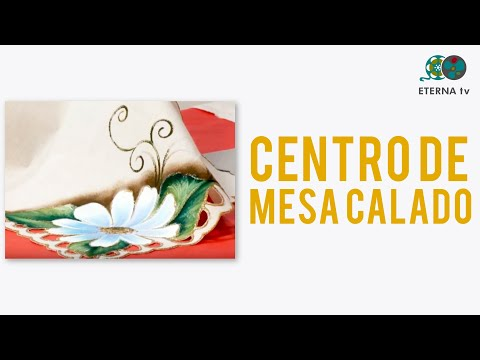 Pintura para Tela sobre un Centro de mesa calado - Sonia Nuñez en Bienvenidas T