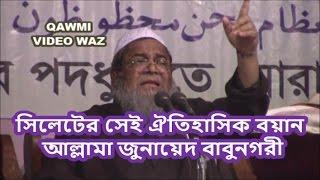 Download সিলেটের সেই ঐতিহাসিক বয়ান | The historic statement of Sylhet | Allama Junaid Babunogori | Bangla WAZ 3Gp Mp4