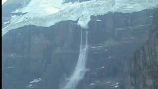 Six Glacier Lookout ice breaking off