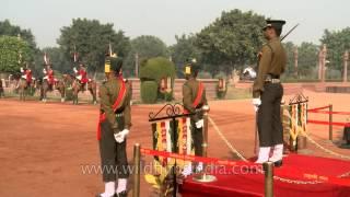 Indian army band music at the Changing of the Guard at Rashtrapati Bhavan