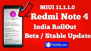 Miui 11 Update Realease | Redmi note 4 Miui 11 Update info | Miui 11 Stable Update For Redmi note 4