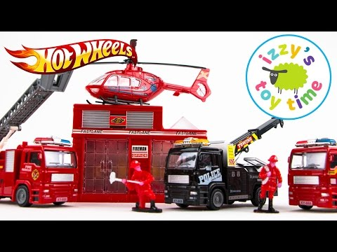 Cars for Kids   Hot Wheels Fast Lane Emergency Vehicles Playset   Fun Toy Cars for Kids