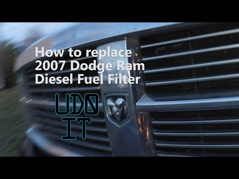 How to change a Dodge Diesel 2500 Fuel Filter Cummins 5.9L 2003 - 2007