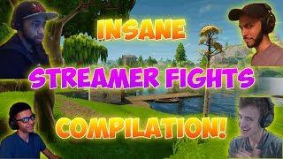 Insane Fortnite Streamer Fights Compilation! (Ninja, Myth, Daequan, And More!)