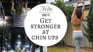 How To Get Stronger at Chin Ups