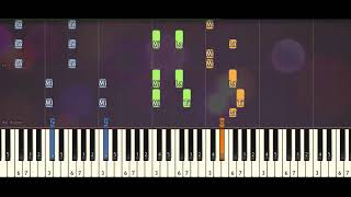 Super Junior – Black Suit piano tutorial synthesia acoustic by Piano Sheet Music