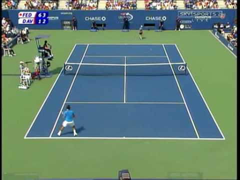 Roger Federer Hard Court Masterclass vs Davydenko USO '06 SF Video