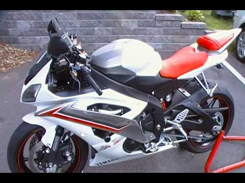 2009 Yamaha R6 Pearl White Too Many Mods To List - YouTube